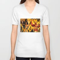 carnival V-neck T-shirts featuring Carnival by Trevor Jolley