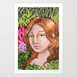 Among Flora Art Print