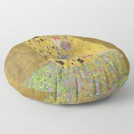 The Kiss by Gustav Klimt Floor Pillow