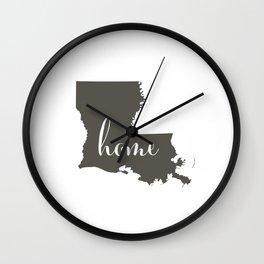 Louisiana is Home Wall Clock