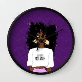 LEGALIZE MELANIN (D) Wall Clock