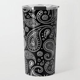 Paisley - Black & White Travel Mug