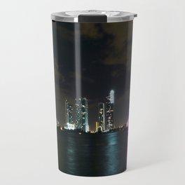 Miami night skyline Travel Mug