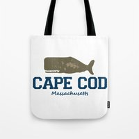 cape cod Tote Bags featuring Cape Cod by America Roadside