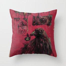 Edgar Allan Poe (Nevermore) Throw Pillow