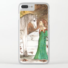 Yule Blessings Clear iPhone Case