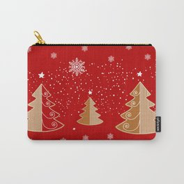 Red & white  gingerbread  #Christmas design Carry-All Pouch