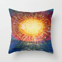 kindle Throw Pillows featuring :: OneSun :: by :: GaleStorm Artworks ::