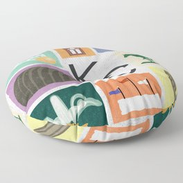 Kansas City Landmark Print Floor Pillow