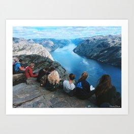 Pulpit Rock, Lysefjorden in Norway Art Print