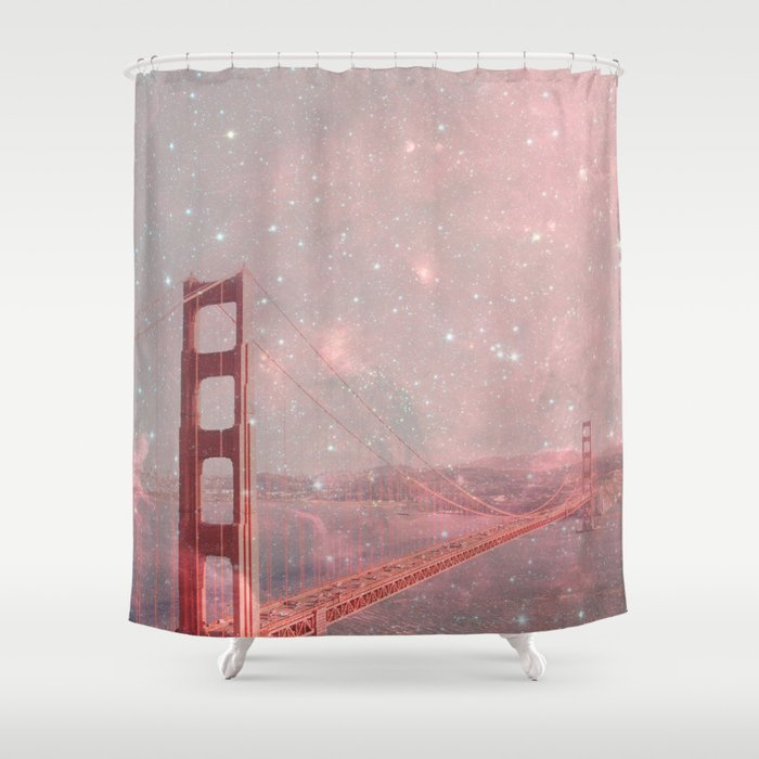 Stardust Covering San Francisco Shower Curtain