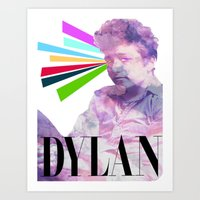 dylan Art Prints featuring Dylan by Coyvan