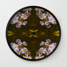 Fruity Floral Wall Clock