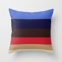 Color Harmony Geometric Pattern Colour Block Stripes Throw Pillow
