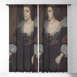 Anthony van Dyck - Portrait of Amalia van Solms-Braunfels, Princess of Orange (1602-1675) Blackout Curtain