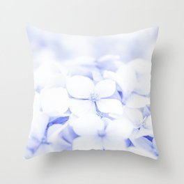 Soft blue delicate flowers Throw Pillow