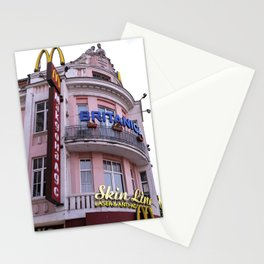 Eastern Europe urban architecture and a McDonald's Fast Food Stationery Cards