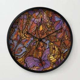 Moths and Butterflies Wall Clock