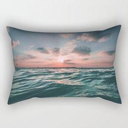 Deep Green Float Rectangular Pillow