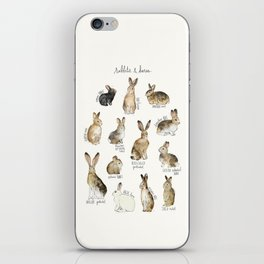 Rabbits & Hares iPhone Skin