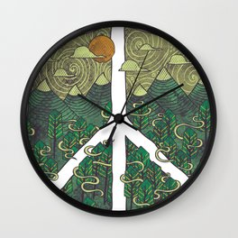 Peaceful Landscape Wall Clock
