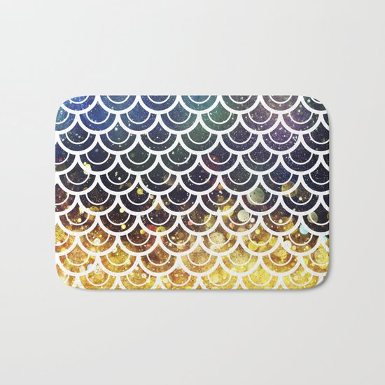 Mermaid Scales Deep Sea Sparkle Bath Mat