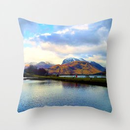 Four Seasons in One Day over Ben Nevis Throw Pillow