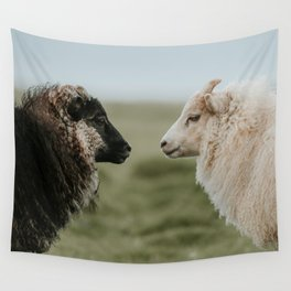 Sheeply in Love - Animal Photography from Iceland Wall Tapestry