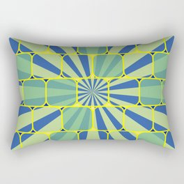 Abstract geometric blue Rectangular Pillow