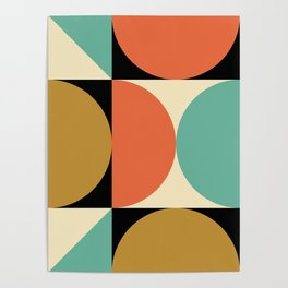 Mid Century Modern Geometric Abstract 235 Poster