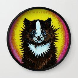 "Louis Wain's Cats ""Psychedelic Rainbow Cat"" Wall Clock"