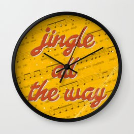 Jingle Bells #3 - A Hell Songbook Edition Wall Clock