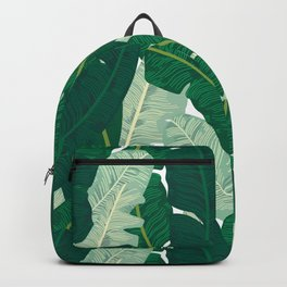 Classic Banana Leaves in Palm Springs Green Backpack