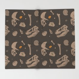 Fossils Throw Blanket