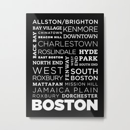 City of Neighborhoods - I Metal Print