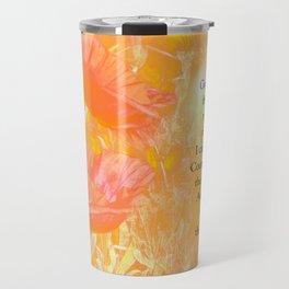 Serenity Prayer Orange Poppy Garden Glow Travel Mug