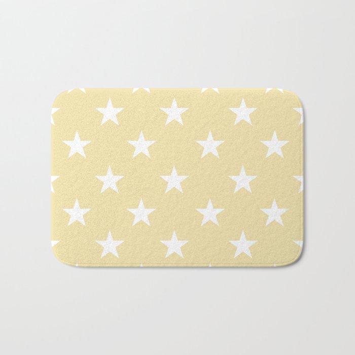 Stars (White/Vanilla) Bath Mat