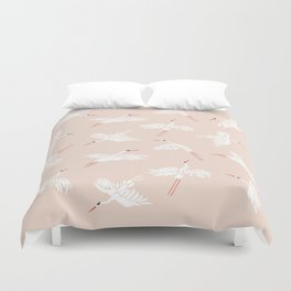 Crane Dance Duvet Cover