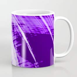 Falling fading fibers of bright lines with eggplant energy of futuristic abstraction Coffee Mug
