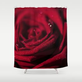 Fire - Red - Rose - Roses Flowers Shower Curtain