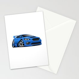 Import Sports Sedan Cartoon Illustration Stationery Cards
