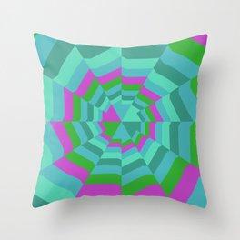Hexagon Web Throw Pillow