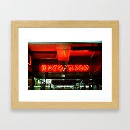 Rayo Rojo Framed Art Print