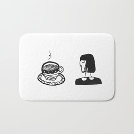 Tea and lady Bath Mat