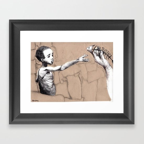 Injustice Framed Art Print