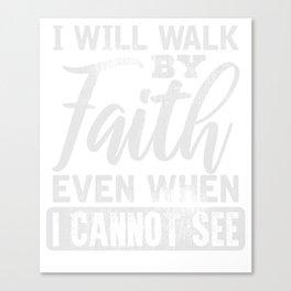 Christlicher Glauben FrauenGeschenk Canvas Print