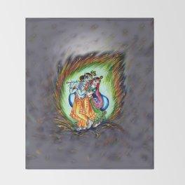 Radha Krishna  Throw Blanket