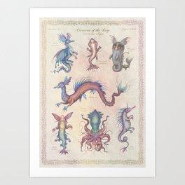 Creatures of the Deep Art Print