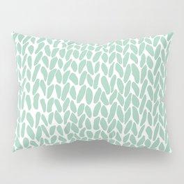 Hand Knit Zoom Mint Pillow Sham