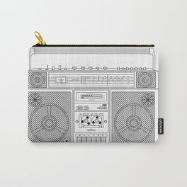 80s Boombox Carry-All Pouch